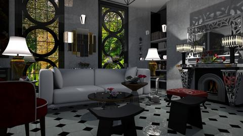 Sala Art Deco - Retro - Living room - by LuzMa HL