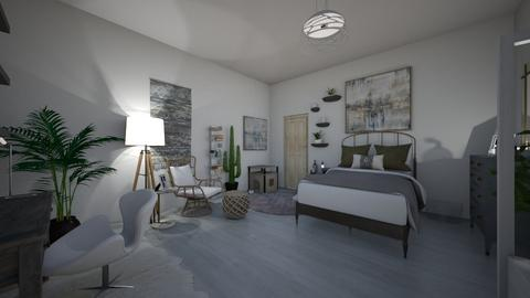 white and gray - Modern - Bedroom  - by PeculiarLeah
