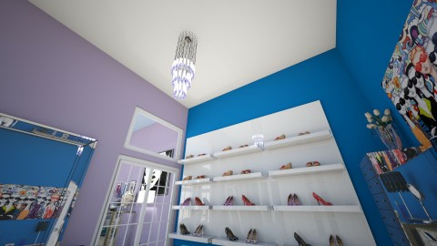 Blue and purple dream rm - Glamour - Bedroom  - by fashiondesigner7