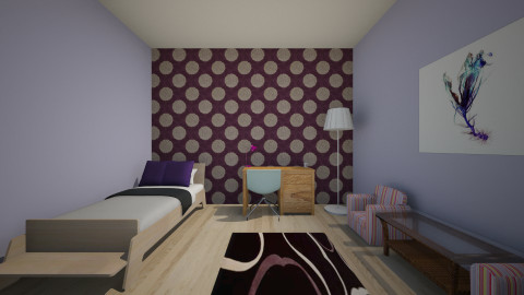 Olga#1 - Vintage - Bedroom  - by Zaharra56
