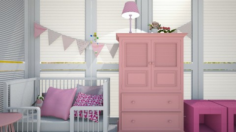 Pink Girly Nursery - by CreativityMonster22