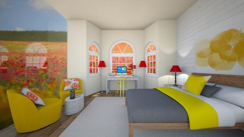 Poppy Bedroom - Bedroom - by dogsrmylife