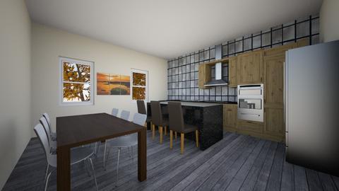 Black and White Kitchen - Modern - Kitchen - by jaydemakenzie