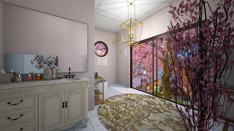 Cherry Blossom Bathroom - Bathroom  - by seeeeeesiiiiiiii