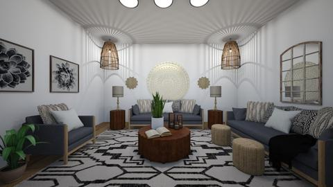 Transitional Boho - Living room  - by wiserenee81