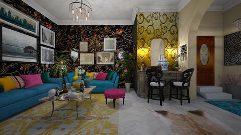 Maximalist Livingroom - by Themis Aline Calcavecchia