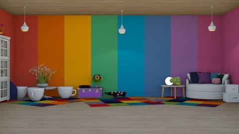 Rainbow - Retro - Kids room  - by Twice and Momo