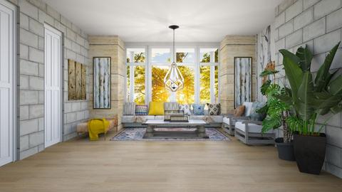 Template Baywindow Room - Living room  - by Feeny
