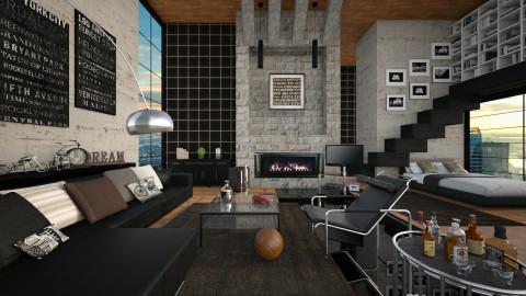 men case - Living room  - by Sama Elhendy