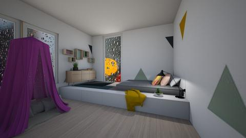 triangle bedroom - Bedroom - by dia17a
