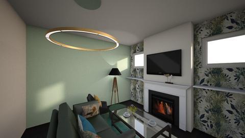 green living - Living room  - by frutapodrida