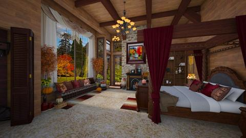autumn bedroom - by Christine Keller