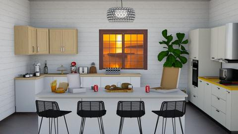 summer seaside kitchen - Kitchen  - by jaxo
