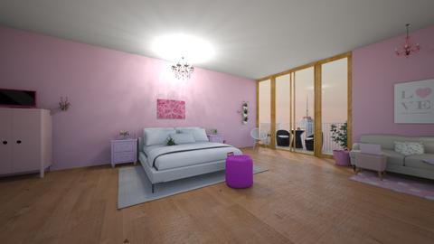 Pink Bedroom - Bedroom  - by 29catsRcool