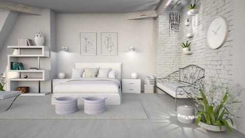 white calmness - Bedroom - by Moonpearl