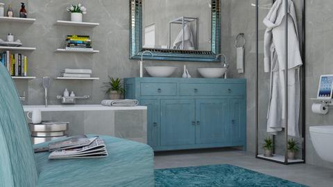 Turquoise - Eclectic - Bathroom  - by Theadora