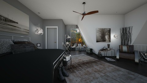 In Law Suite - Rustic - Bedroom  - by Lackew