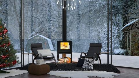 Modern Christmas  - Modern - Living room  - by NEVERQUITDESIGNIT