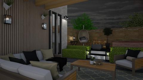 Modern small patio - Garden  - by ginamelia22