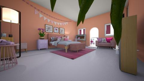 Peachy room - Minimal - Bedroom - by viavia