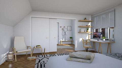 Attic - Minimal - Bedroom  - by Claudia Correia
