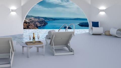 Luxury Pool in Santorini - by kt_2