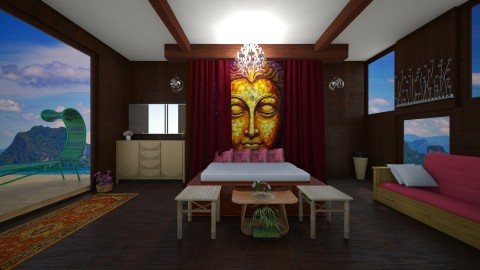 thai resort room - by lucy_world