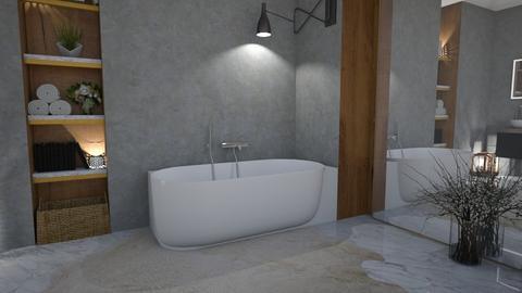 Gray bath - Bathroom  - by snjeskasmjeska