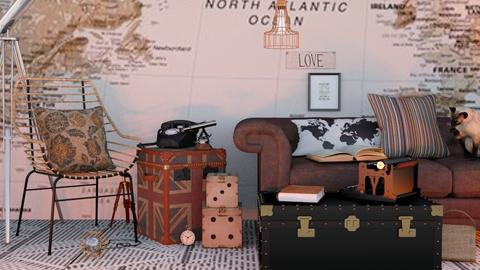 Travel themed Living - Modern - Living room  - by matildabeast