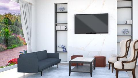 Sleek and Modern Living - Living room  - by lyrikkah