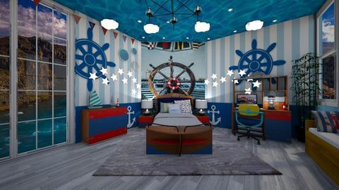 Nautical Bedroom - Kids room  - by NinjaKidd22431