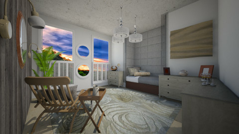 tropical serenity - Glamour - Bedroom  - by donella