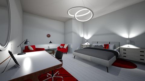 Red Room - Modern - Bedroom - by EllaBob123