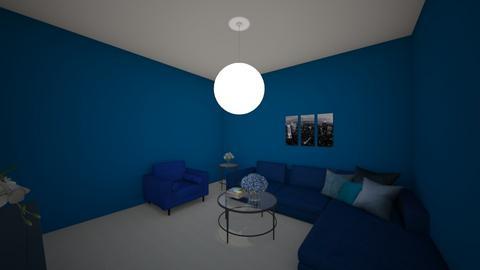 Sala monocromatica azul  - Living room  - by Melissa81