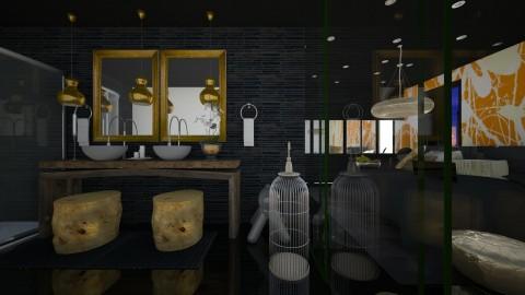 little golden divider - Modern - Bathroom  - by Evangeline_The_Unicorn