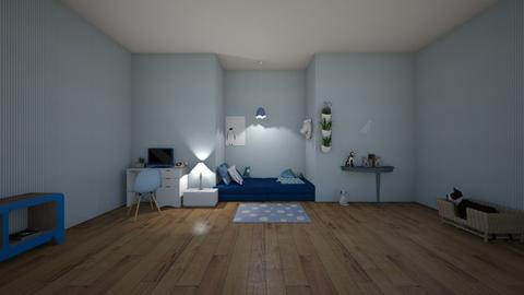 blue bunny - Modern - Kids room  - by matildabeast