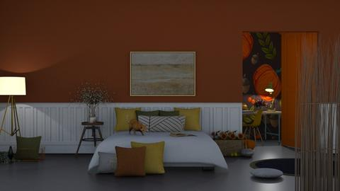 AutumnBed - Bedroom  - by FoxxyDeco39