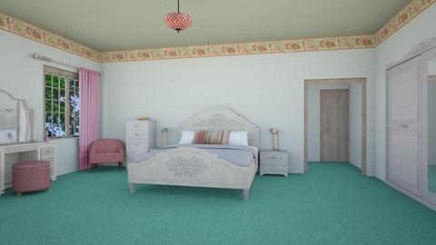 pink pistachio bedroom - Glamour - Bedroom  - by Psweets