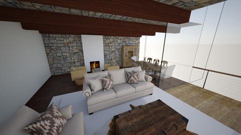 mountain house - Living room - by edataman