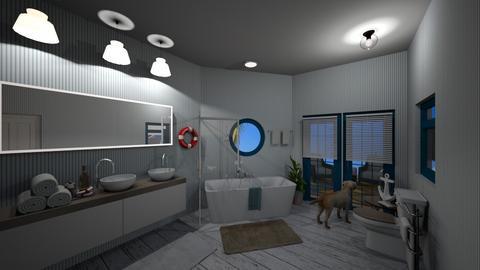 Bathroom at Sea - Bathroom  - by CaramelPopcorn