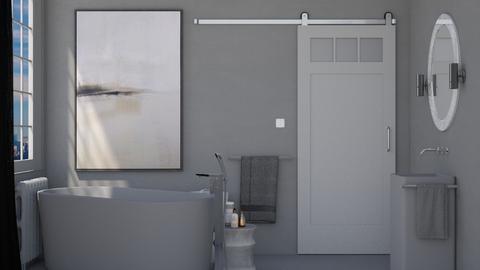 Greyscale Bathroom - Modern - Bathroom  - by HenkRetro1960