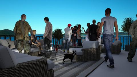 Rooftop Terrace Party - by Valentinapenta