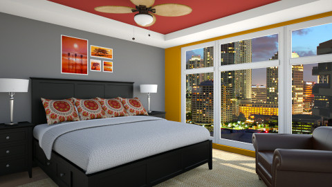 Testing Colors - Modern - Bedroom  - by LadyVegas08