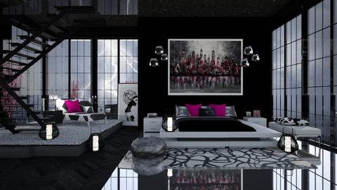 HOT POP OF PINK - Feminine - Bedroom  - by RS Designs