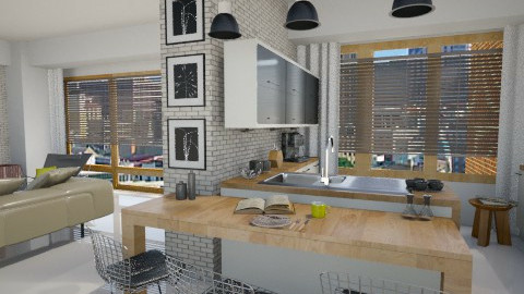 Downtown Apartment - Kitchen  - by MilaMao