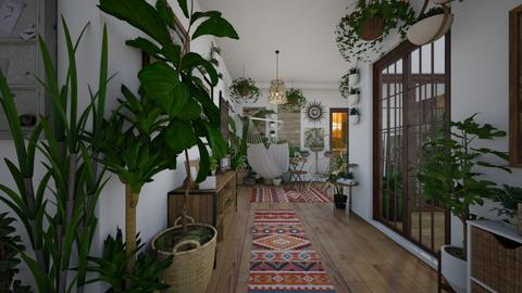 Urban Jungle Hallway - Rustic - by lealaurenbagari