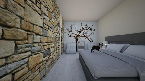 1st Bedroom test - Bedroom  - by Andreea Balaniscu