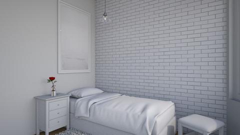Simplicity - Minimal - Bedroom  - by chocolatedonut71