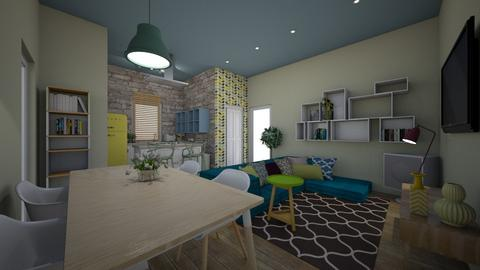 single house - Living room - by bettamarchegiano