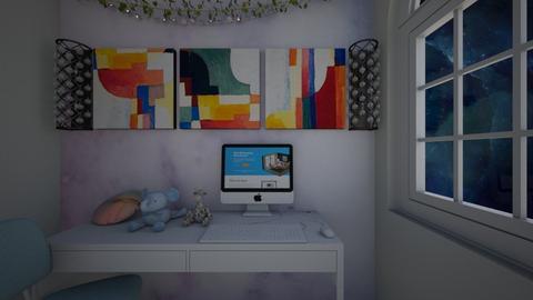 cute but simple office - Modern - Office  - by kiwimelon711